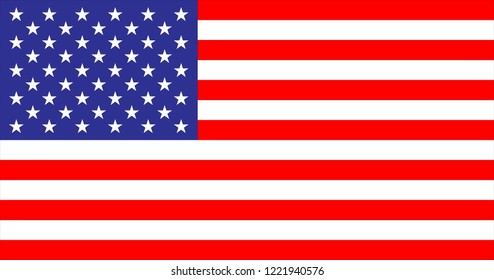 USA nationnal  Flag in the original size
