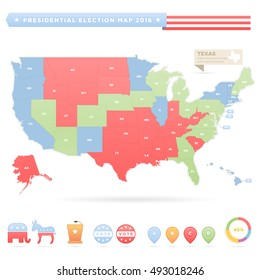 USA Presidential Elections Infographic Map