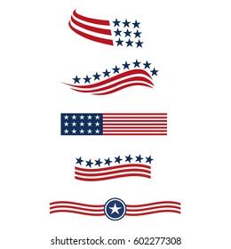 american flag logo images stock photos vectors shutterstock rh shutterstock com american flag logo png american flag logo vector