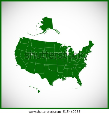USA State Delaware Map Stock Vector (Royalty Free) 515460235 ...