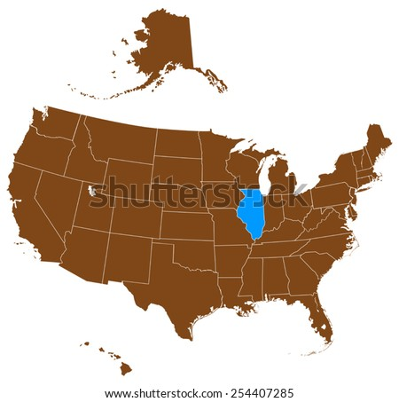 USA State Illinois Map Stock Vector (Royalty Free) 254407285 ... on detailed map of illinois, underground railroad map illinois, road map illinois, location on map of illinois, usa flag illinois, zip code map illinois, weather illinois, physical features of illinois, missouri county map illinois, united states illinois, street map of batavia illinois, usa city utah, large map of illinois, 50 states illinois, map of cities in greene county illinois, map of state illinois, kansas illinois, illinois map illinois,