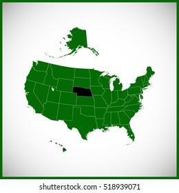 USA state Of Nebraska Map