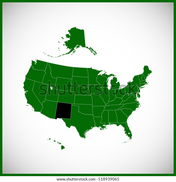 Usa State New Mexico Map Stock Vector (Royalty Free) 518939065