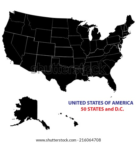 USA States Map Vector Image All Stock Vector (Royalty Free ...