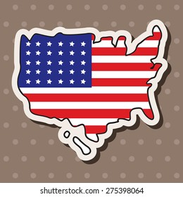 USA theme elements