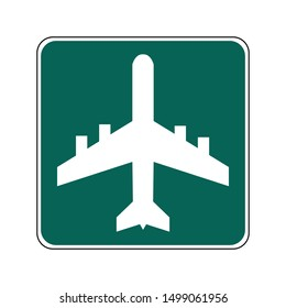USA traffic road signs. general information sign for an airport. vector illustration