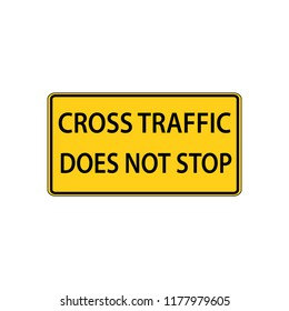 USA traffic road signs. intersection is not an all-way stop. vector illustration