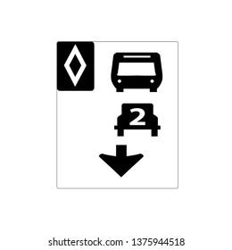 USA traffic road signs.two or more passengers must be in the vehicle to use this lane on the highway. vector illustration