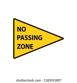 USA traffic road signs. no passing zone. vector illustration