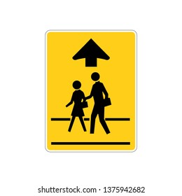 USA traffic road signs. school crossing. vector illustration