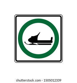 USA traffic road signs. snowmobiles may use this road.vector illustration