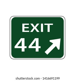 USA traffic road signs,exit number. vector illustration