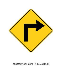 USA traffic road signs.sharp bend or turn in the road ahead .vector illustration