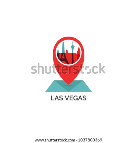 USA United States America Las Vegas Stock Vector (Royalty Free ...