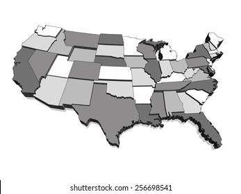 Map Of America 3d Vector.Usa Map Vector 3d Images Stock Photos Vectors Shutterstock
