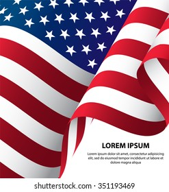 The USA Waving Flag Background, Clipping Mask