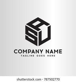 USA,ASU,SUA,AUS Letter logo template.vector