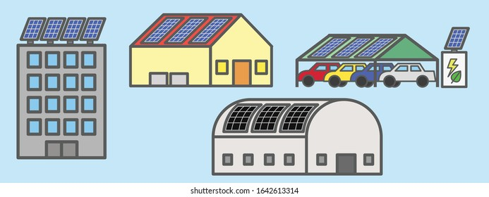Usage examples of solar rooftop installation