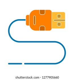 usb cable icon- usb cable isolated,data cable illustration - Vector data transfer