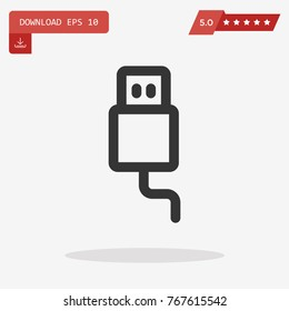 usb cable vector icon