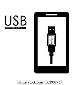USB digital design, vector illustration eps 10