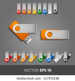 USB flash drive template for corporate identity