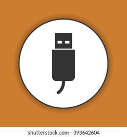 usb icon. Flat design style eps 10