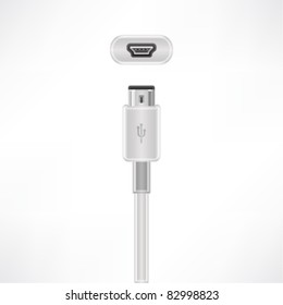 USB mini-B plug & socket