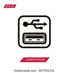 USB port vector icon