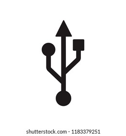 USB symbol icon vector. symbol for web site Computer and mobile vector.