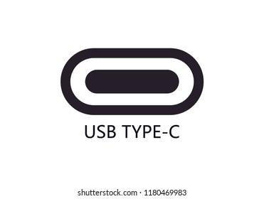USB Type C port icon