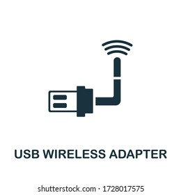 Usb Wireless Adapter icon. Simple illustration from wireless devices collection. Creative Usb Wireless Adapter icon for web design, templates