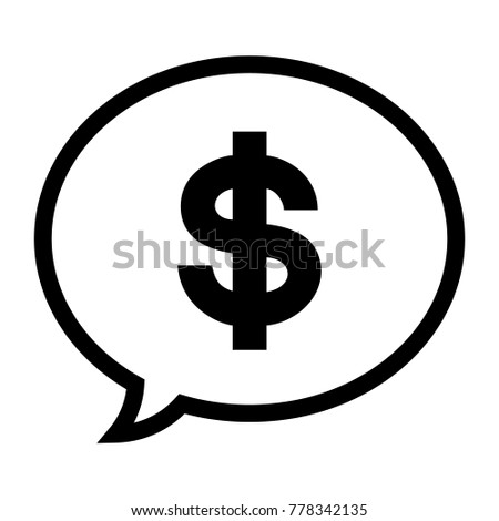 Usd Symbol Chat Icon American Dollar Stock Vector Royalty Free