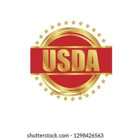 USDA gold label,sticker,emblem