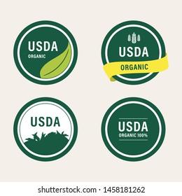 usda organic certified green label banner guaranteed.