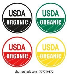 USDA organic shield sign set