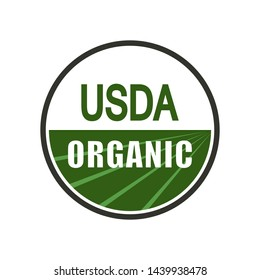 USDA organic shield sign. Vector illustration.