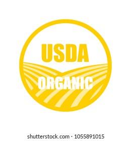 usda organic stamp icon