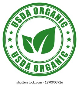 Usda organic vector label isolated on white background
