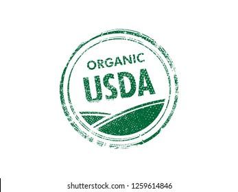 Usda organic vector stamp on white background