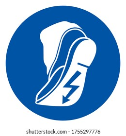 Use Anti Static Footwear Symbol Sign ,Vector Illustration, Isolate On White Background Label. EPS10