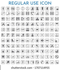 use icons set. Collection of infographic with line chart, pattern, large, graphic, pyramid, chart, certificate, bar chart, levels. Editable and scalable infographic icons