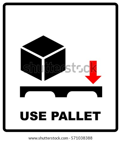 Use Pallet Sign Mass Vector Packaging Stock Vector Royalty Free