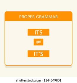 Use proper English grammar. Words Its vs It's