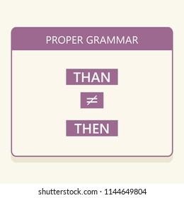 Use proper English grammar. Words Than vs Then