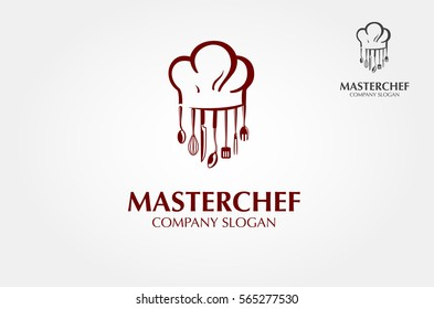 Use this logo for a chef, restaurant, catering or any food related services. Vector logo illustration. Clean and modern style on white background