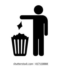 Use trash can vector sign illustration isolated on white background