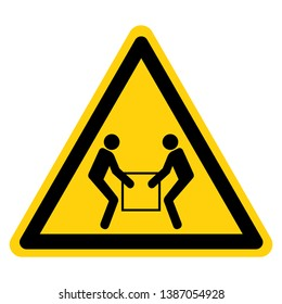 Use Two Person Lift Symbol Sign, Vector Illustration, Isolate On White Background Label .EPS10