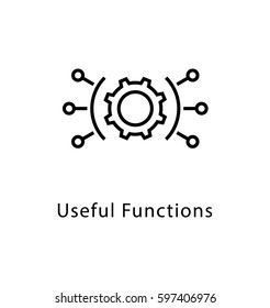 Useful Functions Vector Line Icon