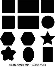 Useful Geometric Shapes, Black color